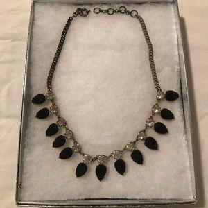 J.Crew Black/Crystal Necklace